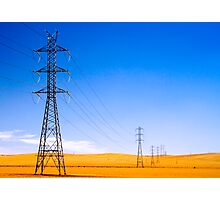 Power Lines at Clare Photographic Print