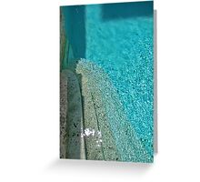 Pool of Unearthly Shimmering Blue Greeting Card