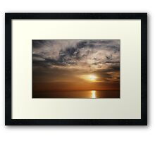 Above and Below - SUN Framed Print