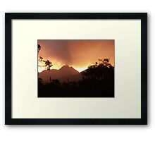 Toolbrunup Sunset Framed Print