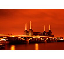 Battersea Powerstation over the river Thames, London Photographic Print