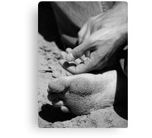 Zen and the art of sand Canvas Print