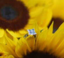 Bride's Engagement Ring + Flowers Sticker