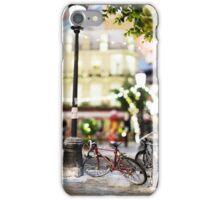 Mini-Streets: Single Bicycle iPhone Case/Skin