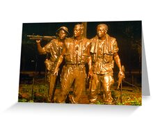 Vietnam memorial 2 Greeting Card