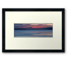 Dunalley Beach sunset Framed Print