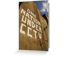 Banksy - One Nation Under CCTV Greeting Card