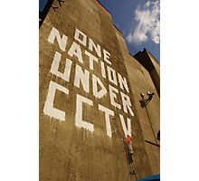 Banksy - One Nation Under CCTV Photographic Print