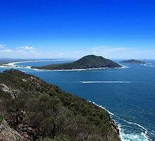 View To Shark Island From Mount Tomaree by Ian Mooney