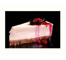 Berry Cheesecake Art Print