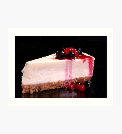 Berry Cheesecake Art Print