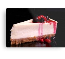 Berry Cheesecake Metal Print