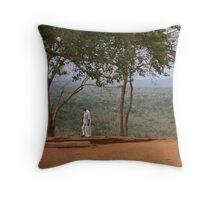 On Sigiriya Rock Throw Pillow