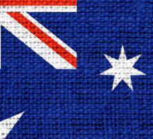 Australia Flag Burlap Linen Rustic Jute Sticker