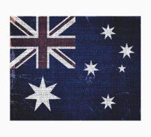 Vintage Australia Flag Burlap Linen Rustic Jute by Nhan Ngo