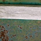 Green Rust with weathered board by Julie  Davison