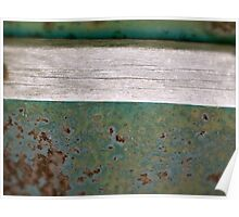 Green Rust with weathered board Poster
