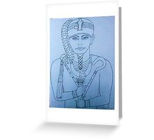 Khonsou the Egyptian god Greeting Card