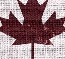 Vintage Canada Flag Burlap Linen Rustic Jute Sticker