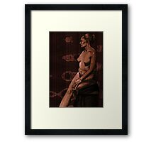 WoodenWoman Framed Print