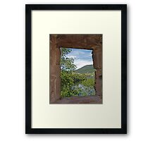Through a Window at Urquhart Framed Print