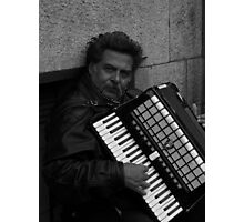 Accordian Man Photographic Print