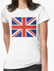 Britain Flag Burlap Rustic Jute T-Shirt