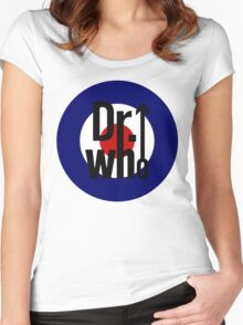 Doctor Who / The Who spoof Women's Fitted Scoop T-Shirt