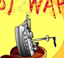 Make Coffee Not War Sticker