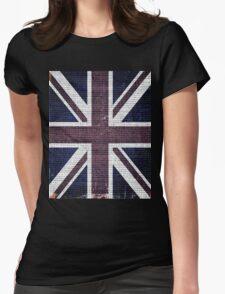 Vintage Britain Flag Burlap Rustic Jute #2 T-Shirt