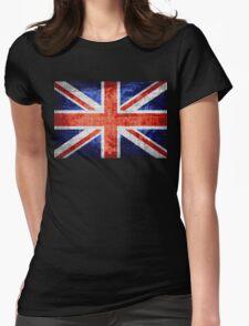 Vintage Britain Flag Burlap Rustic Jute #3 T-Shirt