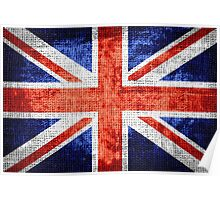 Vintage Britain Flag Burlap Rustic Jute #3 Poster