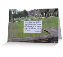 New Lanark: every child as well trained and educated Greeting Card