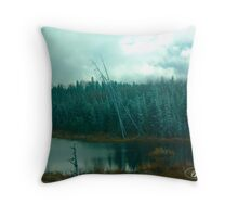 Evergreens of Northern Ontario Throw Pillow
