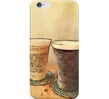 Still Life Pair Earthenware Ceramic Pottery Cups iPhone Case/Skin