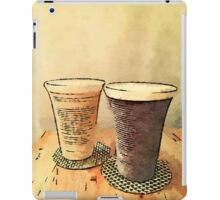 Still Life Pair Earthenware Ceramic Pottery Cups iPad Case/Skin