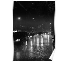 Big Apple rain Poster
