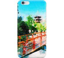 Kawasaki Daishi Bridge and Five-Storied Pagoda iPhone Case/Skin