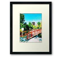 Kawasaki Daishi Bridge and Five-Storied Pagoda Framed Print