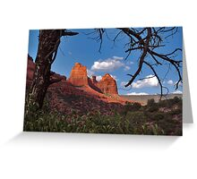 Red Earth, Blue Sky Greeting Card