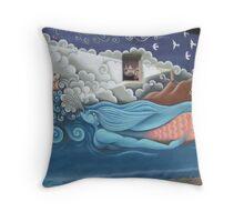 Bisbee Arizona Mural Throw Pillow