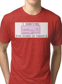 I Survived Five Nights at Freddy's Tri-blend T-Shirt