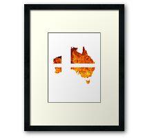 Australian Smash Ball Framed Print