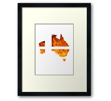 Australian Smash Ball Framed Print