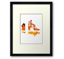 Canadian Smash Ball Framed Print