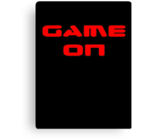 Game Over - Game On - Computer T-Shirt Canvas Print