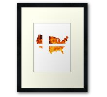 American Smash Ball Framed Print