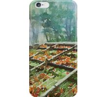 Forest Hut Roof with Moss and Fallen Autumn Leaves iPhone Case/Skin