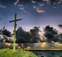 SOLIDOR CROSS AT NIGHT by karo