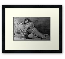 Sleeping Man Framed Print